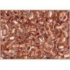 Seedbead 2/0 Crystal Copper Lined